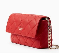 Kate Spade Emerson Place Serena Quilted Hibiscus Red Shoulder Bag #PXRU7... - $181.98