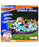 Spray 'N Play Banzai Series Inflatable Pool - Zebra Pool with Built in S... - $39.99
