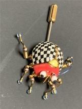 Mackenzie Childs Courtly check Mini Vintage Bug Stick Pin  RARE - $39.60