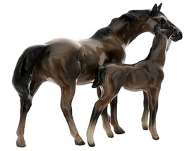 Hagen-Renaker Miniature Ceramic Horse Figurine Thoroughbred Mare and Colt Set  image 3