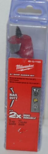Primary image for Milwaukee 48131123 Ship Auger Bit 6 Inch Brand New In Package