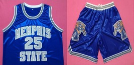 Memphis State University Tigers Pair Of Blue Basketball Jersey/Shorts Free Wwjd - $49.99