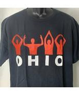 Ohio Ring Spun Black Crew Neck T Shirt Mens XL Port & Co Short Sleeves - $9.50