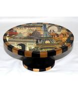 Annie Modica Paris * PEDESTAL CAKE PIE STAND * Elevated,  Eiffel Tower, ... - $69.99
