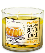 Bath & Body Works Banana Bundt Cake Three Wick.14.5 Ounces Scented Candle - $22.49
