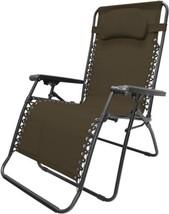 Caravan Sports Oversized Infinity Zero Gravity Chair, Brown - $71.18