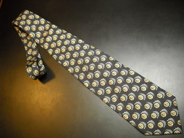 Joseph Abboud Neck Tie Design No 65320 Black with Brown and Grey Accents Italian - $12.99