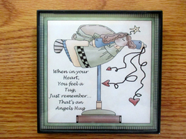 Inspirational Framed Angel Theme Home Decor Wal... - $6.00