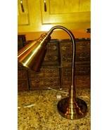 ADJUSTABLE Desk READING LAMP -Use to SPOTLIGHT ART Flexible Strong Metal... - $19.79