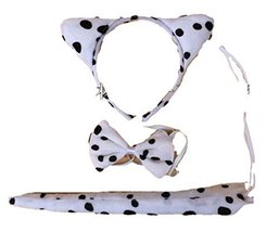 Makeover cat ear headband tail necktichorker set (white pink cat) to animals (AD - $15.00