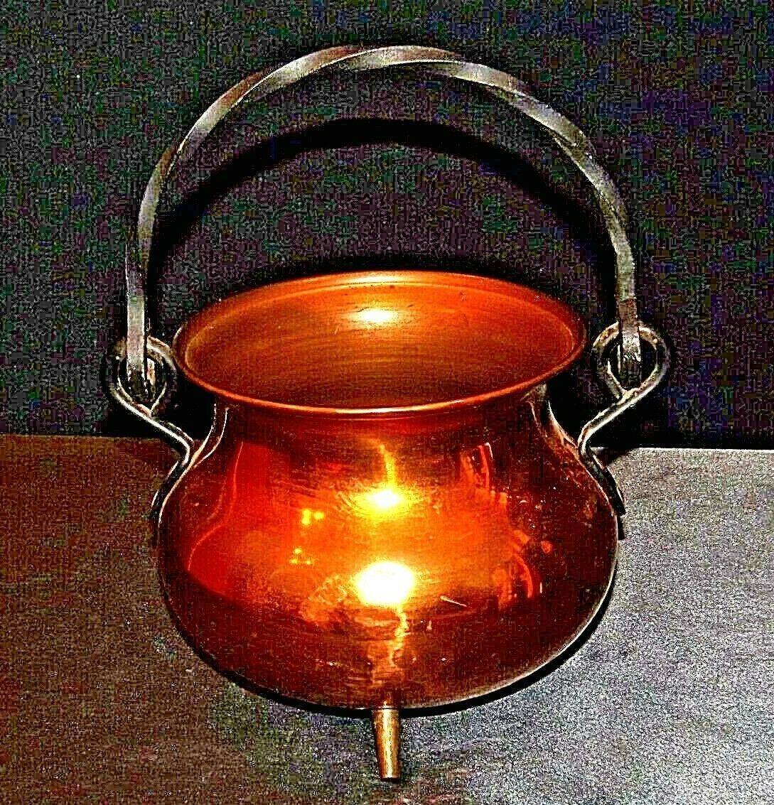 Copper Cauldron Cauldron with Metal Handle RIO TIEL AA19-1505 Antique