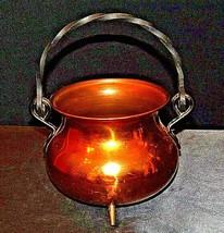 Copper Cauldron Cauldron with Metal Handle RIO TIEL AA19-1505 Antique image 1