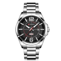 CURREN Men Watch with Week Stainless Steel Band Waterproof Luxury Business Man  - $76.39