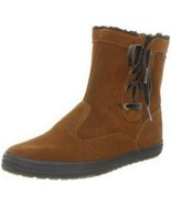 KEDS Womens Suede Lined Faux Fur Brown Ankle Boots US 6 UK 3.5 EUR 36 - $49.99