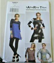 Pattern Vogue Designer Top Katherine Tilton V8817 (16-24) Uncut Factory ... - $9.79