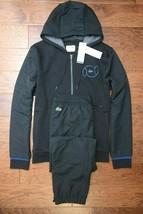 Lacoste WH9517 Mens Black Fleece Cotton/Poly Hooded Tracksuits 4XL EU 9 - $153.44