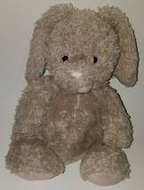 Jellycat Gray/Tan Fuzzy Bunny Rabbit Plush Lovey Stuffed Animal Pink Nos... - $24.70