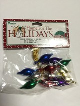 "Christmas Miniatures 12 Pc 1"" Assorted Color Oval Ornaments #2432-90 - $0.99"