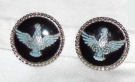 Vintage Coro Enamel Eagle Earrings - $9.50