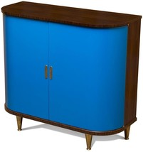 Scarborough House Wine Server Cobalt Blue Doors  Rosewood  - $4,179.00
