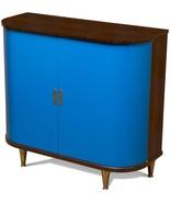 Scarborough House Wine Server Cobalt Blue Doors  Rosewood  - $4,179.00
