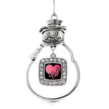 Inspired Silver Noni Classic Snowman Holiday Christmas Tree Ornament With Crysta - $14.69