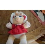 "Vintage 1987 Baby Miss Piggy Plush Christmas Dress & Hood Jim Henson 11"" - $4.40"