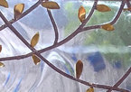 "Stained Glass Window 3 Panels  ""Two Trees"" wedding anniversary"
