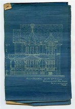 402 High Street Blueprints Mount Holly New Jersey 6 Pages Circa 1900 - $186.12