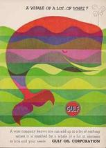Whale Pop Culture Art Graphics 1960 AD Gulf Oil Industry Advertising - $14.99