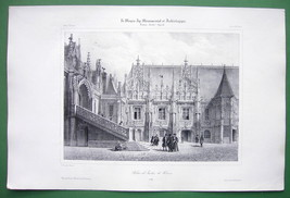 ARCHITECTURE PRINT : ROUEN Palace of Justice Exterior View France - $21.60