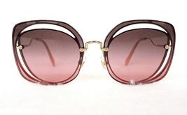 Miu Miu Women's Sunglasses MU54SS ZVN146 145 Gold Metal Made In Italy - New! - $199.95