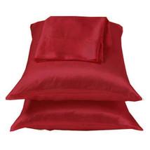 Burgundy/Red Lingerie Satin Pillowcase Standard Queen - $9.99