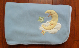 Lambs and Ivy Blue Moon Clouds Fleece Baby Blanket Lovey 29 x 35 - $37.19