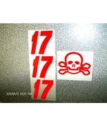 "MATT KENSETH #17""ORANGE-SKULL AND BONE""CUSTOM-DECALS""1/24 - $2.99"