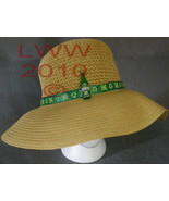 Ladies Floppy Straw Sun Hat Irish Skull & Crossbones Designe - $19.99