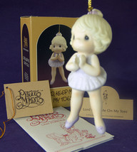 Precious Moments CHRISTMAS ORNAMENT Lord Keep Me on My Toes 102423 NIB 1986 - $8.79