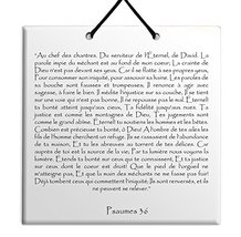 TEHILLIM Ceramic wall hanging French Psalms chapter 36 - $17.79