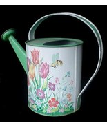 Vintage Ohio Art Tin Toy Watering Can Flowers & Honey Bees - $17.50