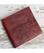 Directions Square Handmade Leather Journal - $50.00