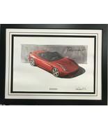 Ferrari California Print Car Picture Wood Framed @ Luca di Montezemolo S... - $395.95
