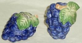 Fitz & Floyd Salt & Pepper Set Purple Grape Cluster - $31.33
