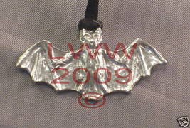 Pewter Bat Protection Amulet Necklace Pendant Wiccan - $7.85