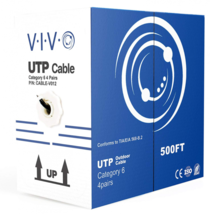 VIVO Black 500 ft Cat6 Ethernet Cable 23 AWG/Wire 500ft Cat-6 Waterproof... - $72.26