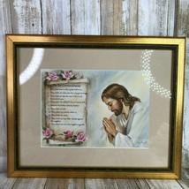 The Ten Commandments Alan Grant Vintage Print Framed Matted Religious Je... - $59.99