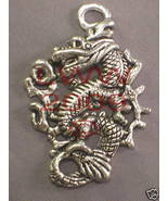 Lg. Oriental Chinese Dragon Necklace Pendant Charm- NEW - $3.99