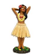 KC Hawaii Hula Girl Posing Mini Dashboard Doll 4.4 inches - $14.60