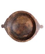 Vintage Large Primitive Wooden Tray Flat Bowl - $280.00