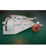 Vintage 1980 Star Wars Snow Speeder Vehicle & 1978 Luke Skywalker Pilot ... - $54.99