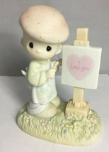 Precious Moments LOVING YOU DEAR VALENTINE PM873 Olive Branch Mark 1987 - $19.59